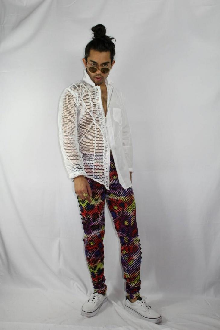 zipper punk outfit for men