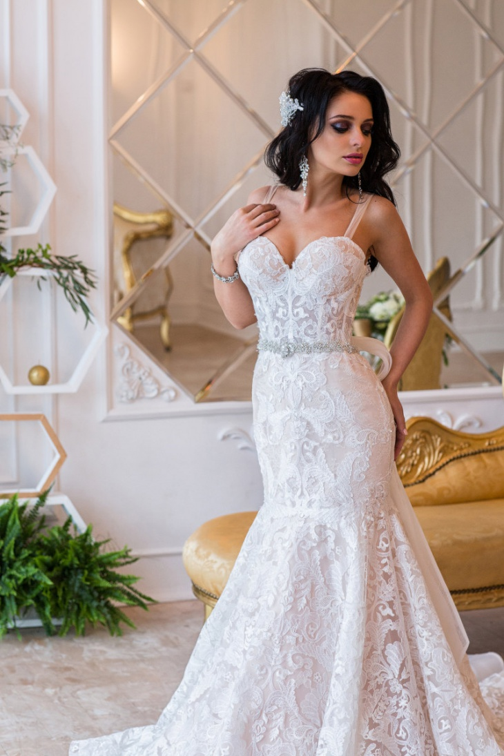 elegant mermaid gown