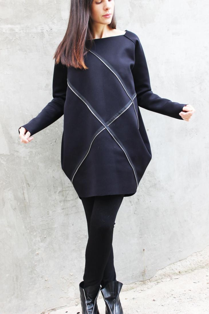 Modern Zipper Top Outfit