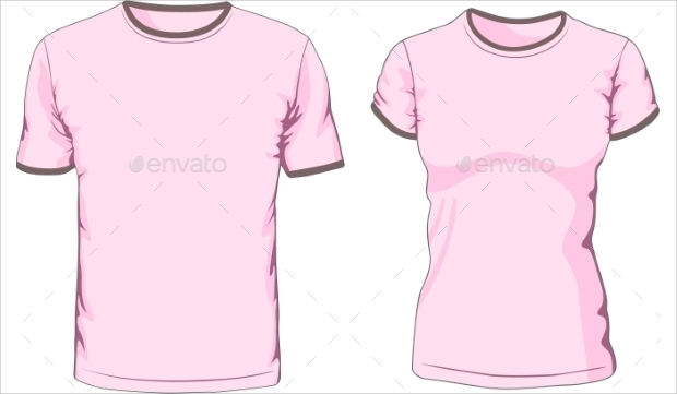 Male and Female T-shirt Vector Art