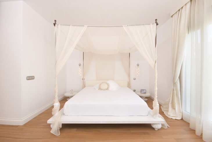 White Canopy Bed Tent