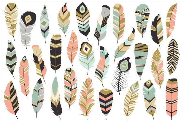 Tribal Feathers Vector
