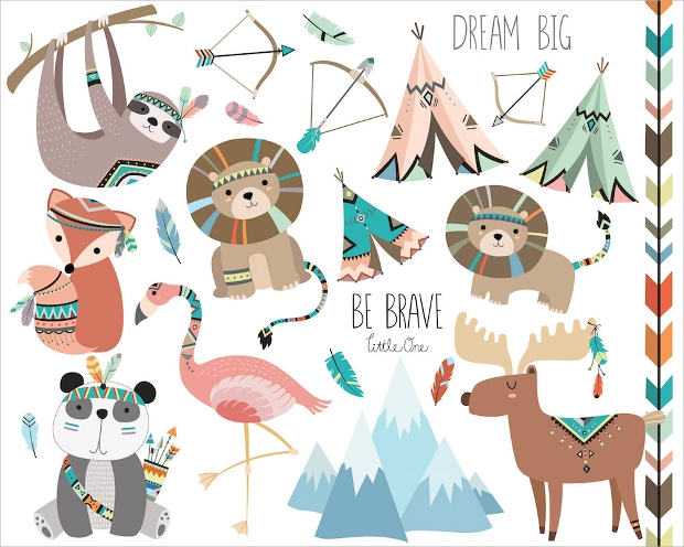 Tribal Animals Vector
