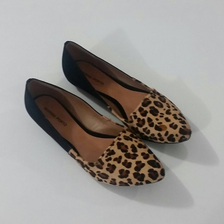 animal print ballet pumps
