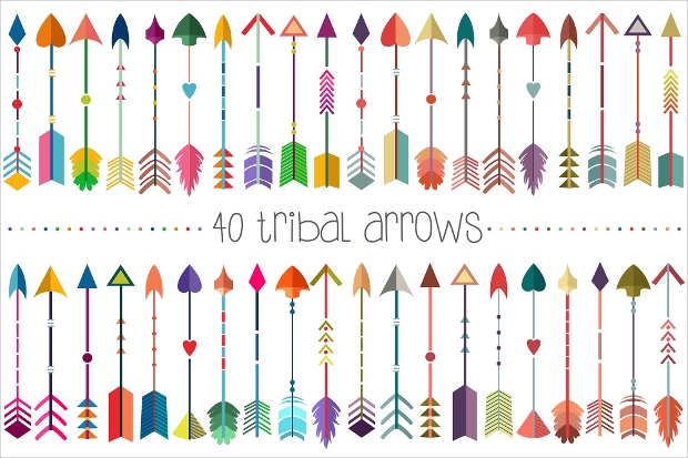 Tribal Arrows Vector & PNG Pack