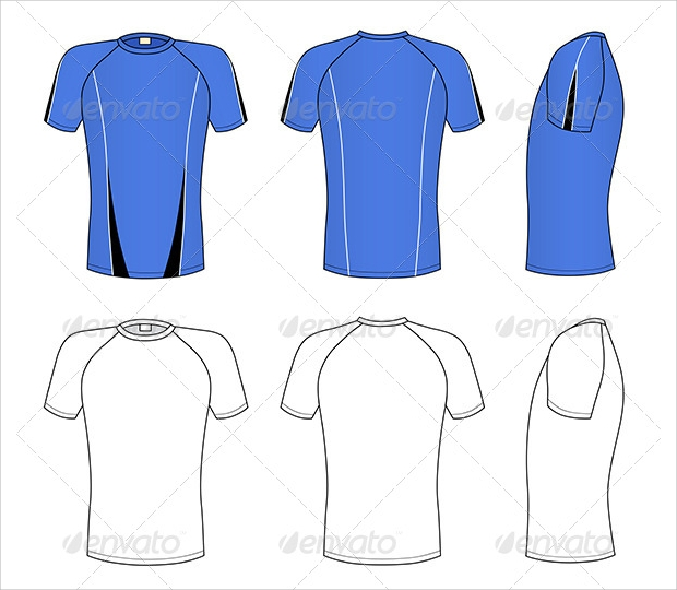 Raglan Sleeve T-Shirt T-shirt Template Vector