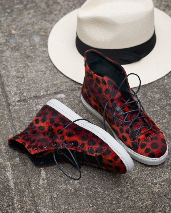 High Top Animal Print Sneakers