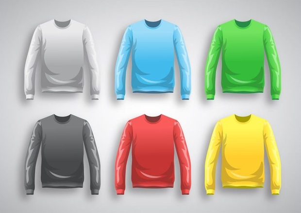 Long Sleeve T-shirt Template Vector