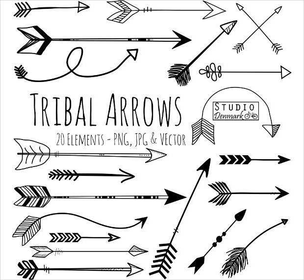 Tribal Arrow Doodle Vectors