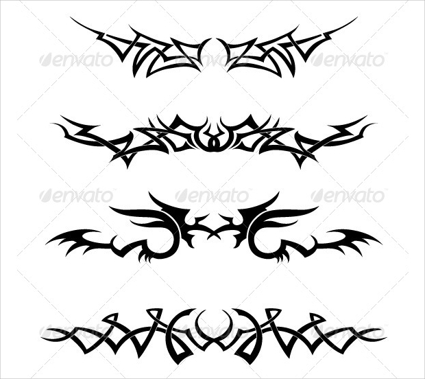 Black and White Tribal Vector Set