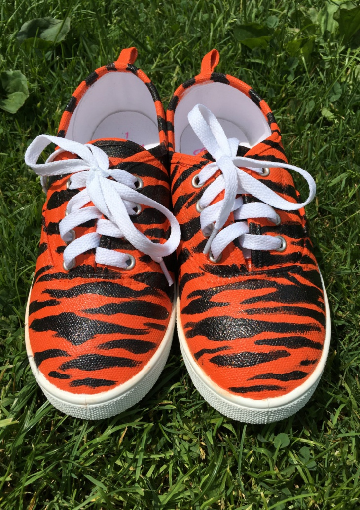 Unique Tiger Print Sneakers