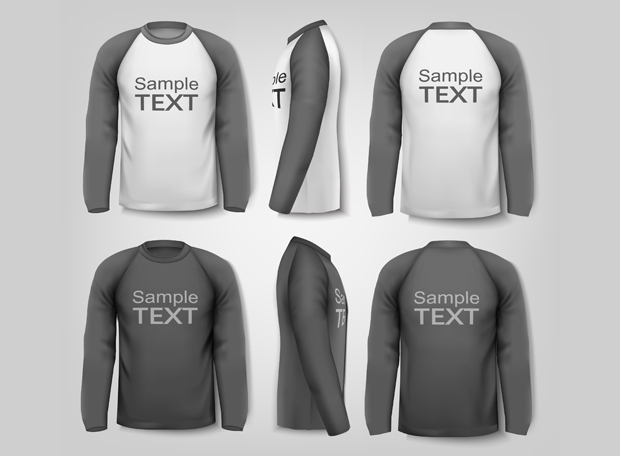 Gray Man T-shirt Vector Template