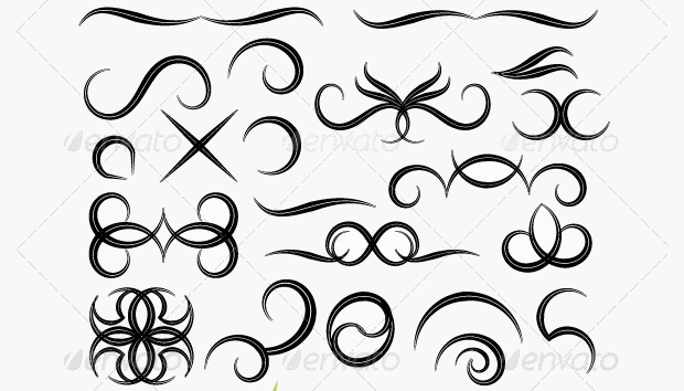 Tribal Swirls Vector