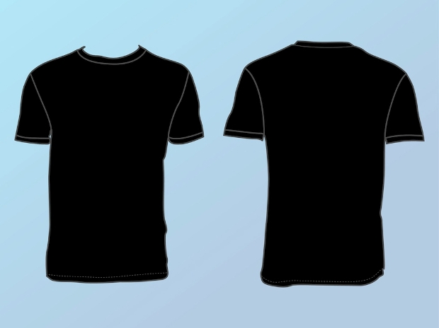 Basic T Shirt Template Vector