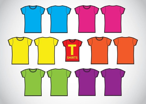 Girls T Shirt Template Vector