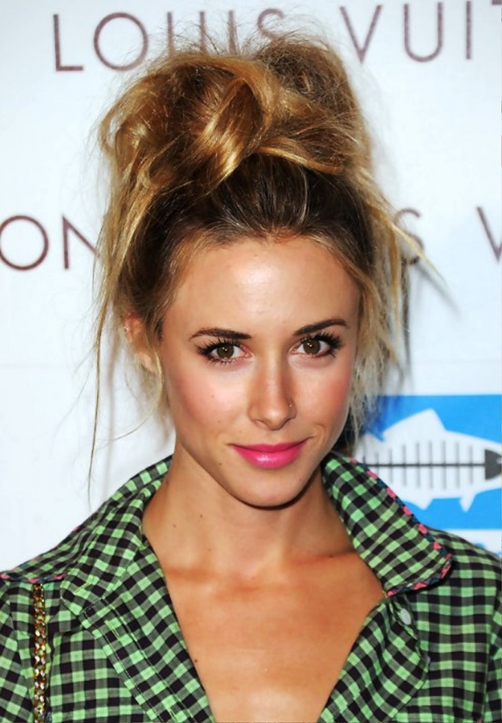 Gillian Zinser Perfect Messy Top Knot