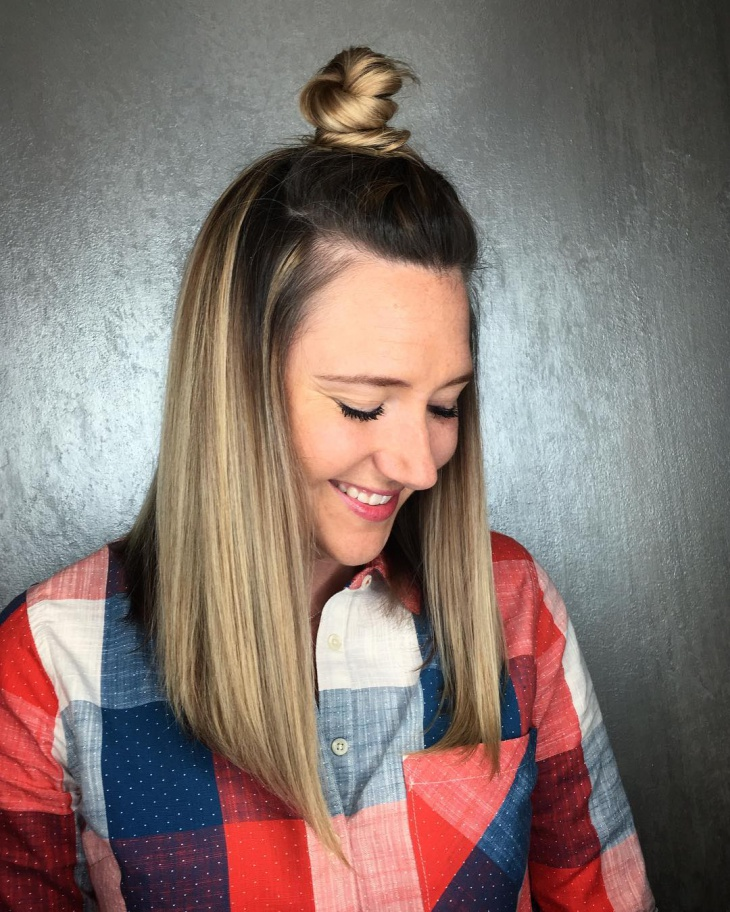 Awesome Two Toned Top Knot Hairstyle