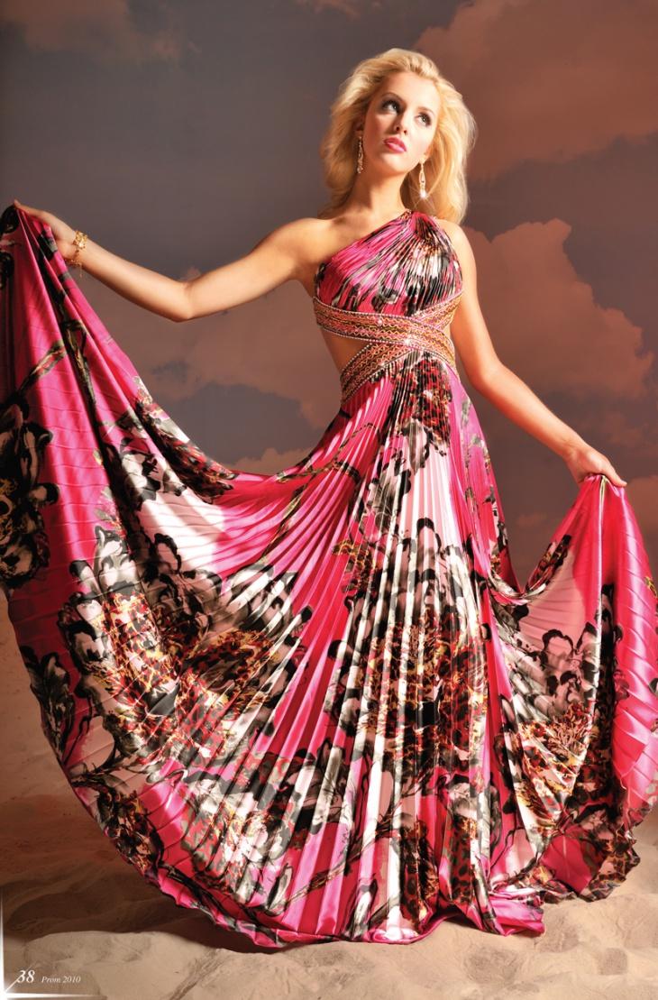 bebe long printed dress