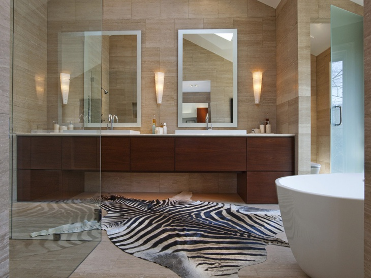 Travertine Bathroom Designs Ideas Design Trends Premium - Zebra bath towels for small bathroom ideas