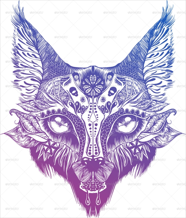 wild cat vector design