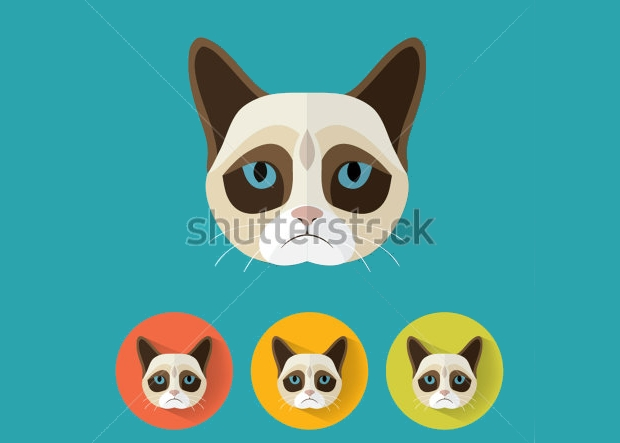 grumpy cat vector art