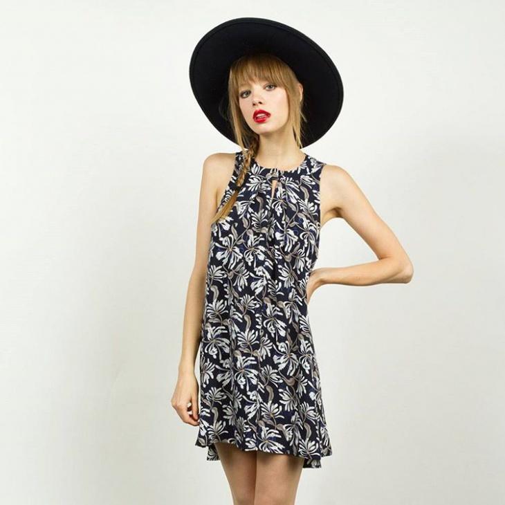 short trendy printed dress