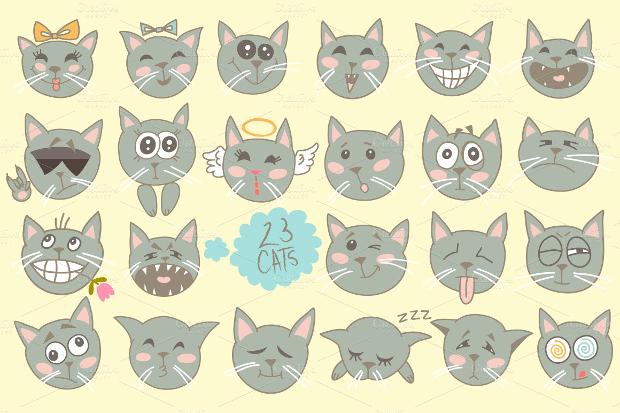 funny cat vectors