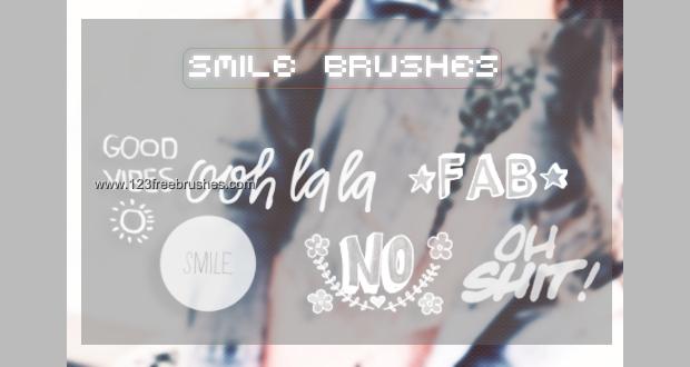 Smile Text Photoshop Brush set