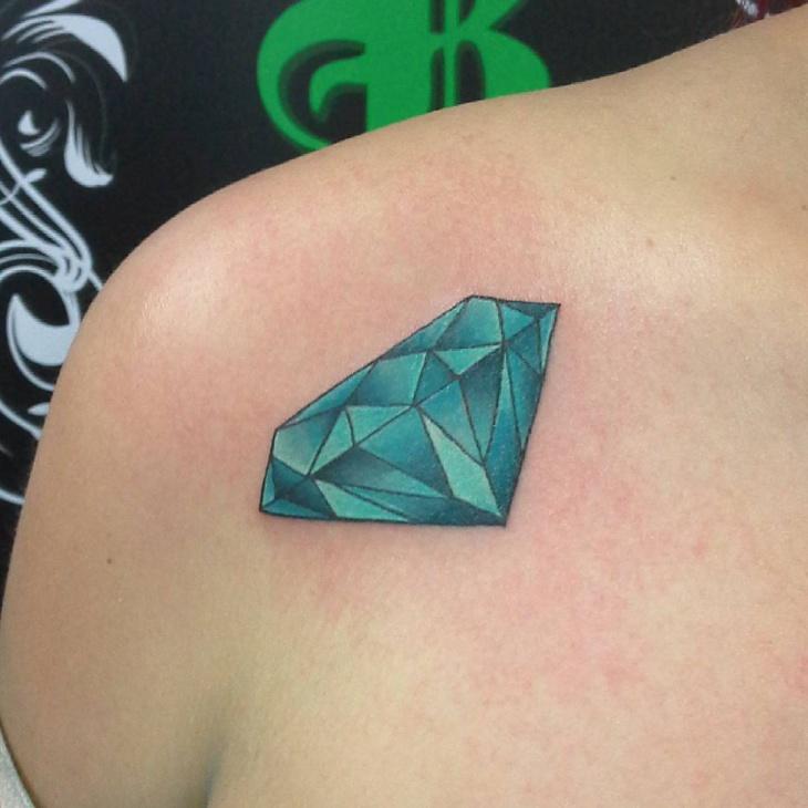 Realistic Gem Tattoo