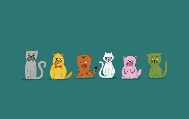 national pet week cat vectors