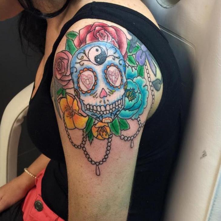 Dramatic Jewel Tattoo
