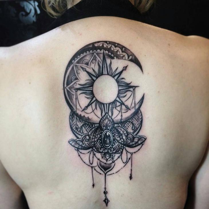 jewel back tattoo idea