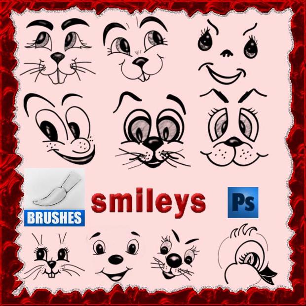 Smiley Photoshop Brushes