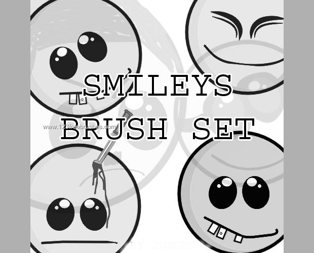 Cute Smileys Brush Set
