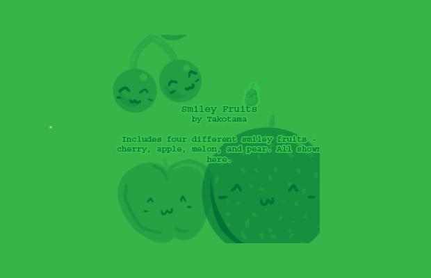 Smiley Fruits Brush Set