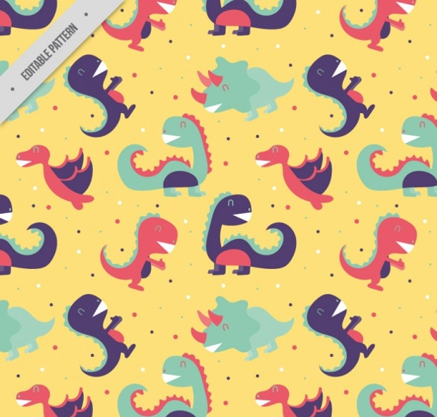 Funny Dinosaurs Pattern