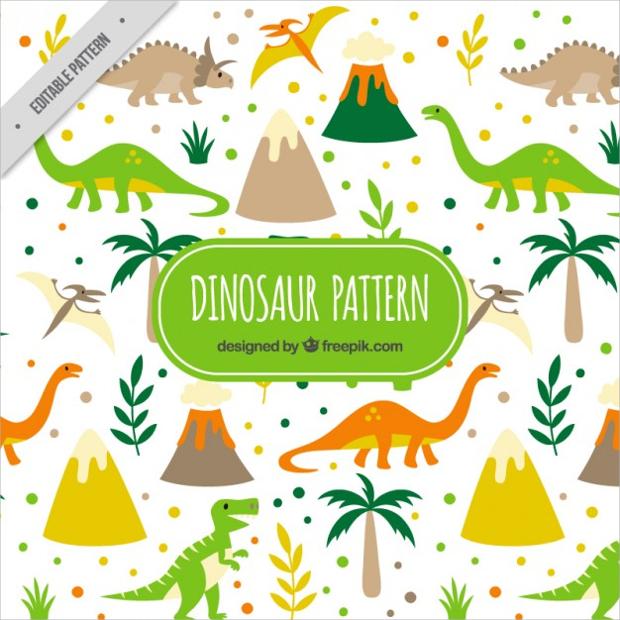 Wild Dinosaurs Pattern