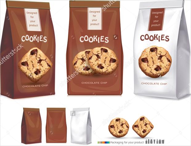 Cookies Bags Packaging Template