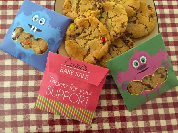 Bake Sale Cookies Packaging Template
