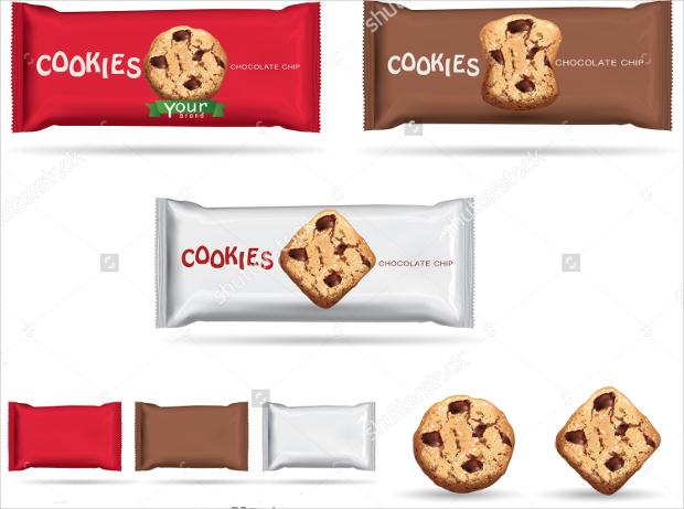 Chocolate Cookies Wrap Packaging