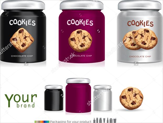 Chocolate Cookies Design Packaging