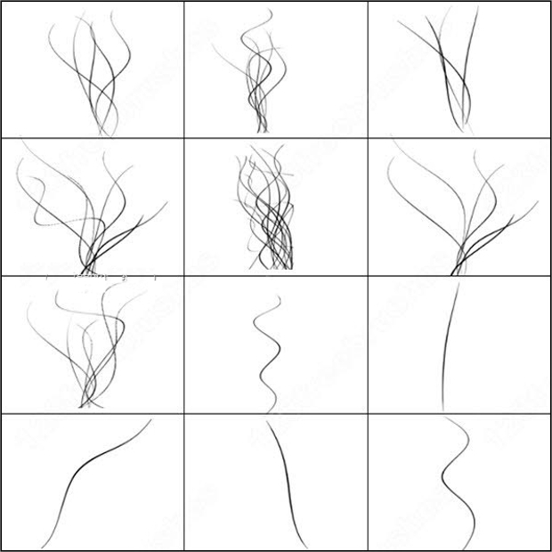 curved line photoshop brushes