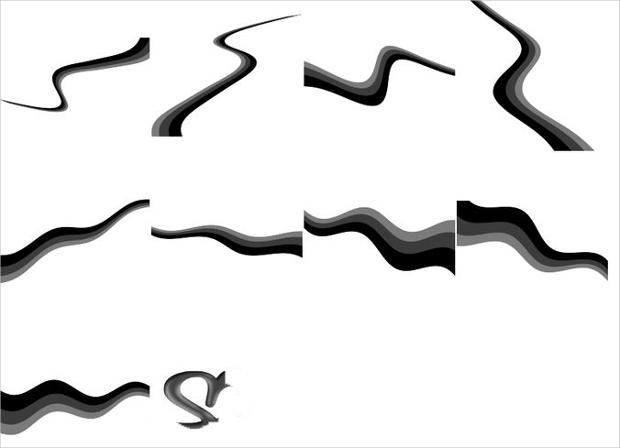 curves brushes set