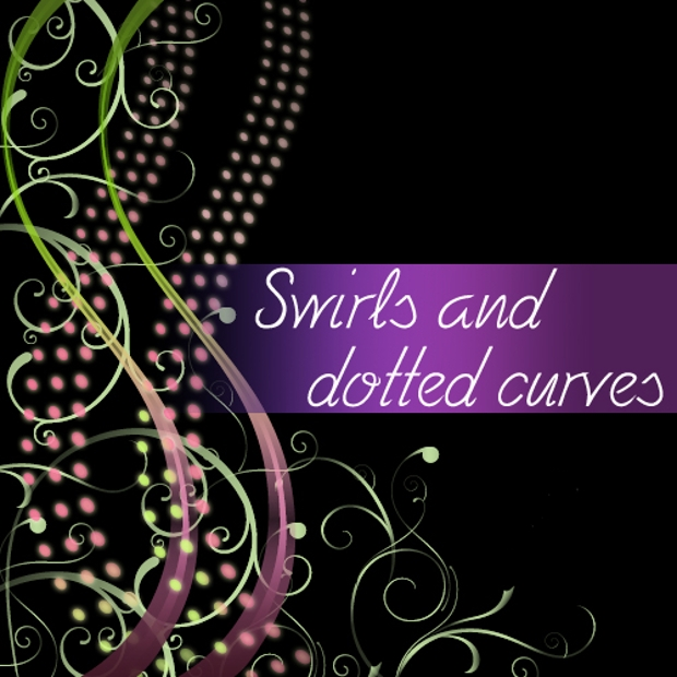 swirls and dotted curves brush