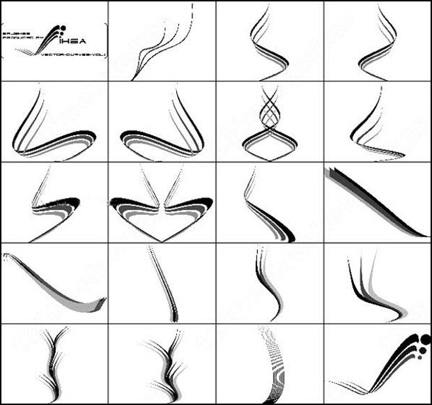 curves line photoshop brushes