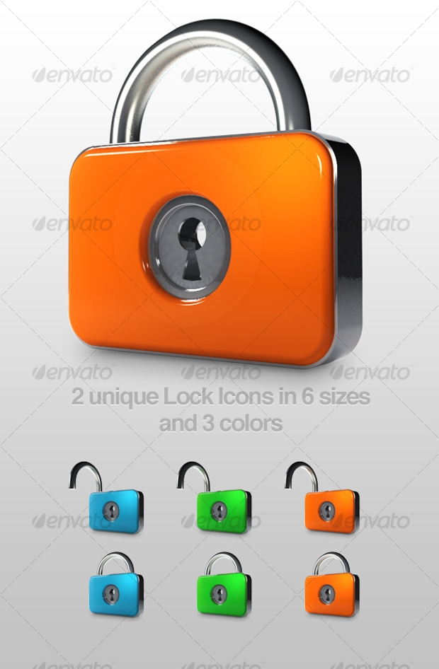 slick lock icons collection