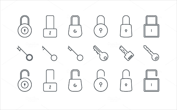 high quality lock icons collection