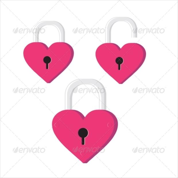 Heart Lock Icons
