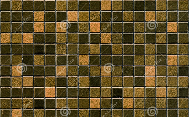 Brown Mosiac Tile Pattern