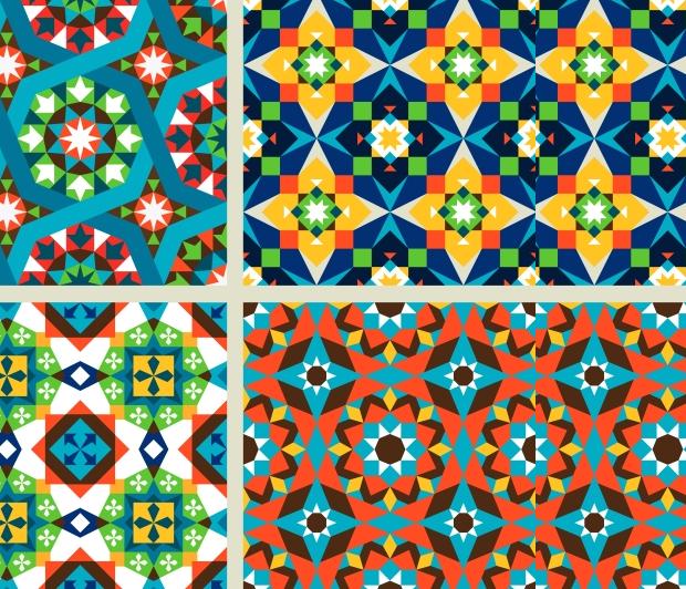 moroccan mosiac seamless pattern